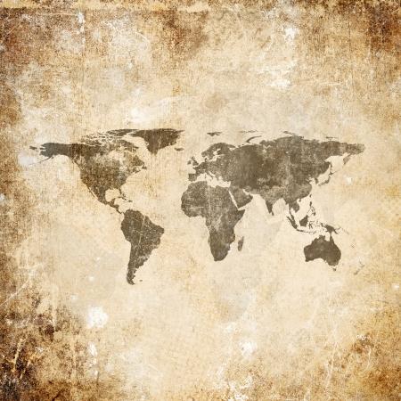 vintage world map: Grunge background with world map