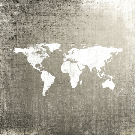 wall maps: Grunge background with world map