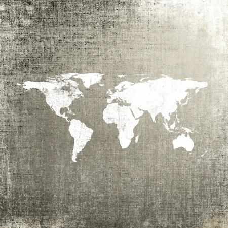 Grunge Hintergrund mit Weltkarte Standard-Bild - 19303803