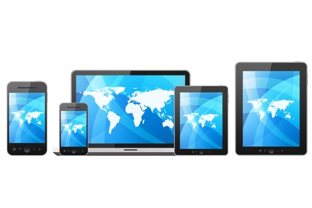 cellphone icon: Tablet pc,mobile phone,notebook and computer