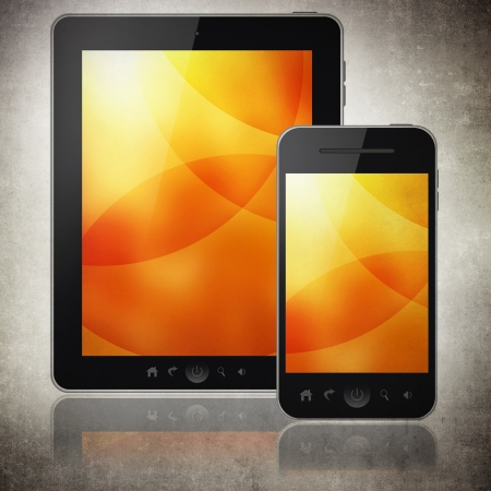 Tablet pc and mobile phone Stock Photo - 20675113