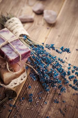 Vintage spa with lavender