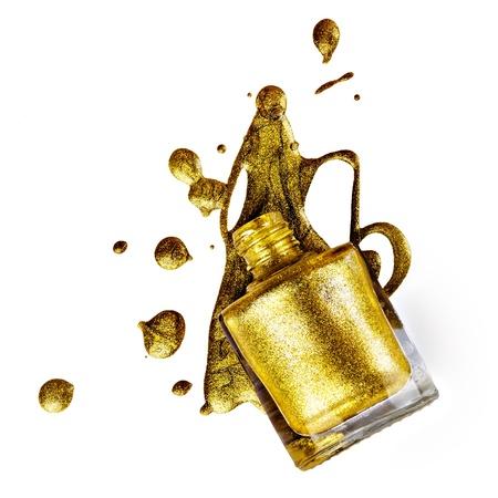 Goldener Nagellack Standard-Bild - 21026292