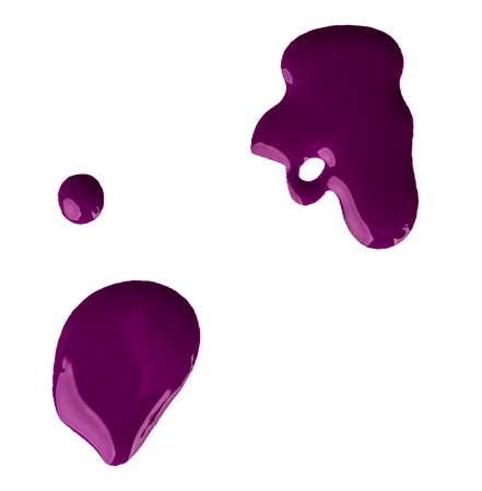 Blots of purple nail polish photo