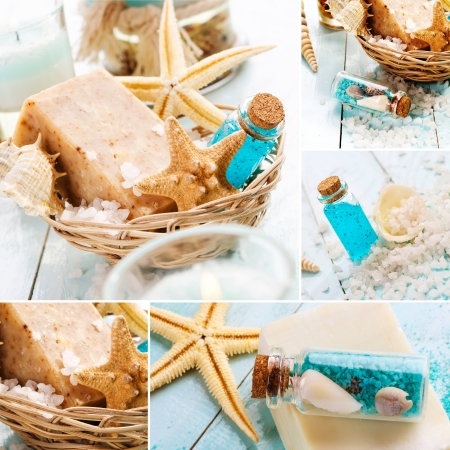 handmade soap: Spa collage
