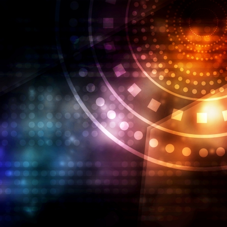place to shine: Abstract technology background