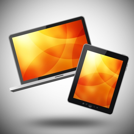 Notebook and tablet pc Stock Photo - 21054722