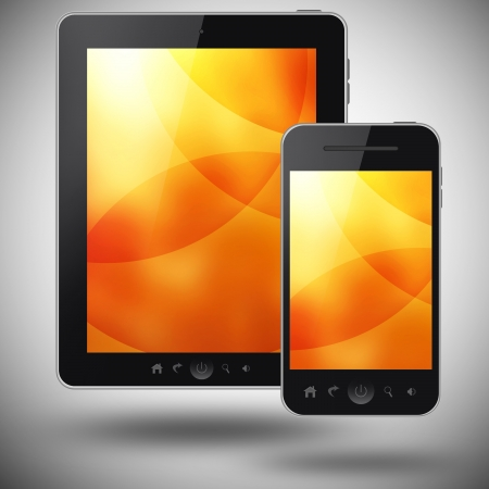 Tablet pc and mobile phone Stock Photo - 21054723