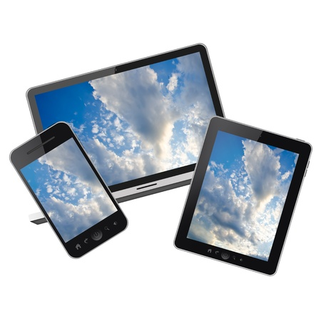 computer tablet: Tablet pc,notebook and mobile phone