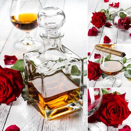 Cognac collage photo
