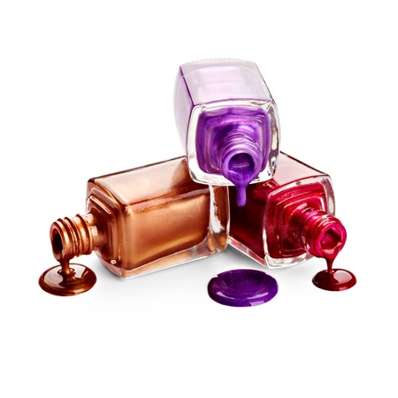 cosmetic lacquer: Nail polish Stock Photo