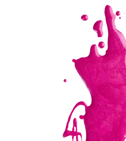 Blots rosa Nagellack Standard-Bild - 21384450