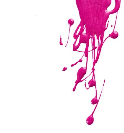 nail polish: Blots of pink nail polish