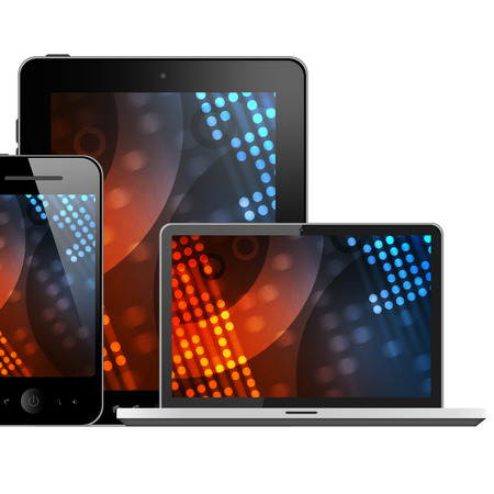 Mobile phone, tablet pc and laptop  photo