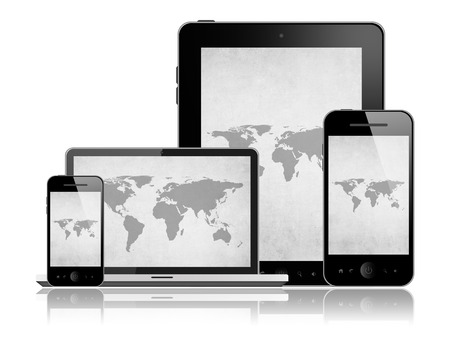 Mobile phone,tablet pc and laptop photo