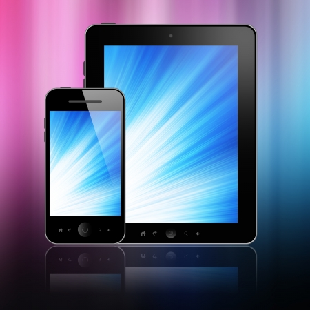 Mobile phone and tablet pc  photo