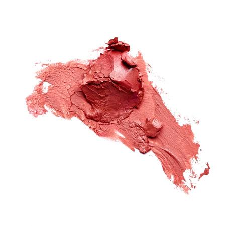smudged: Smudged lipstick