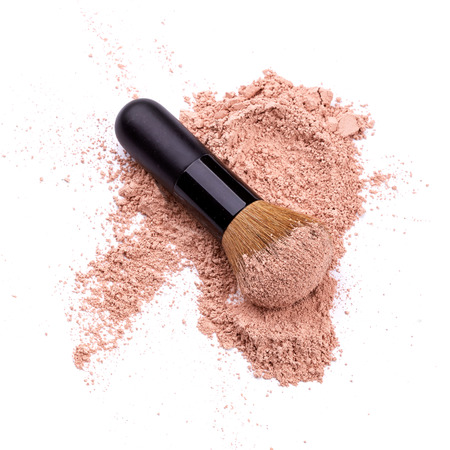 cosmetic products: Face powder Stock Photo