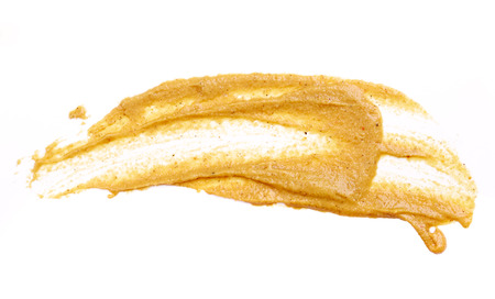Mustard isolated on white background