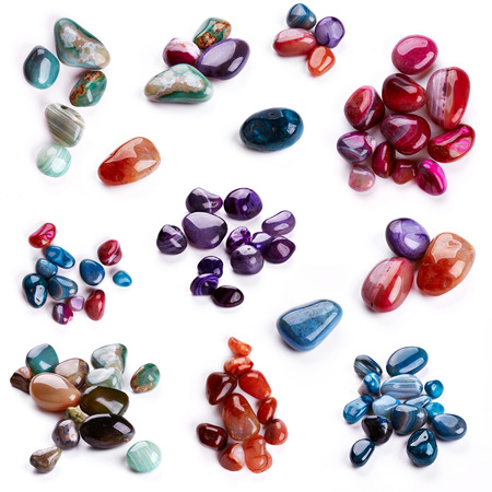 semiprecious: Semiprecious stones isolated on white background Stock Photo