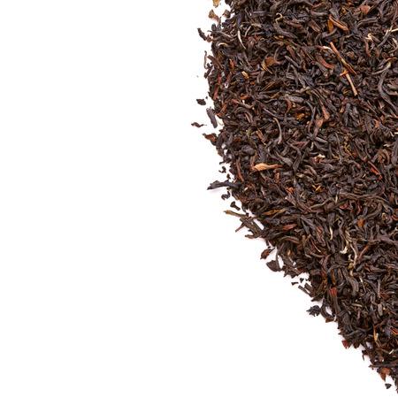 pekoe: Leaves of black tea isolated on white background