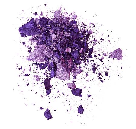 maquillage: Ombre � paupi�res violet isol� sur fond blanc Banque d'images