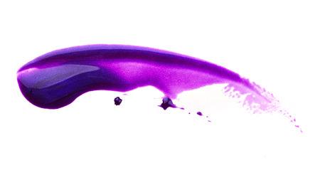 polish: Blot of purple nail polish isolated on white background