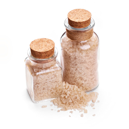 Sea salt isolated on white background