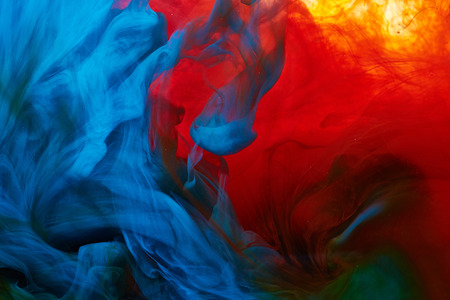 red and blue: Abstract paint splash background