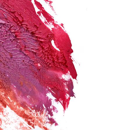 Verschmierte Lippenstifte isoliert auf weißem Hintergrund Standard-Bild - 33242881