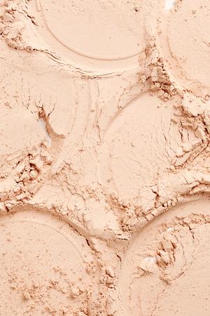 foundation cracks: Face powder texture