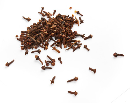 Сarnation spice isolated on white background photo