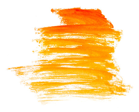 paint brush stroke: Strokes of paint isolated on white  Stock Photo