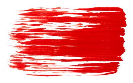 Strokes mit roter Farbe auf weißem Hintergrund Standard-Bild - 35280875