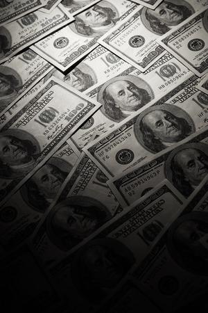 Dark dollars background photo