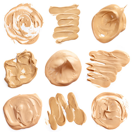 skin care products: Liquid foundation isolated on white background
