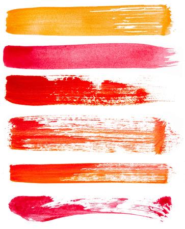 Strokes von Farbe auf weißem Hintergrund Standard-Bild - 35979612