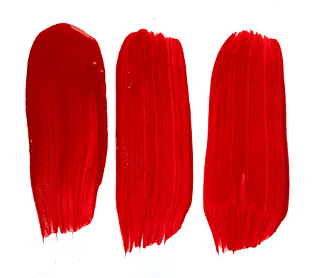 color paint: Red paint isolated on white background