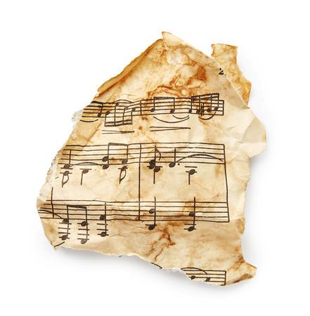 octaves: Music sheet isolated on white background Stock Photo