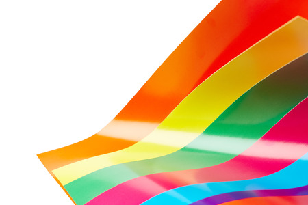colored paper: Colored paper isolated on white background