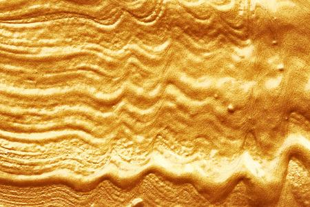 paint brush: Texture of golden paint