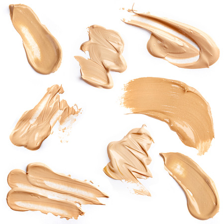 Liquid foundation isolated on white background
