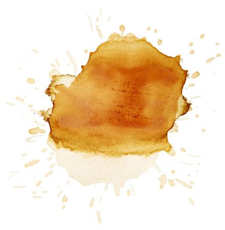 blots: Blots of tea isolated on white background Stock Photo