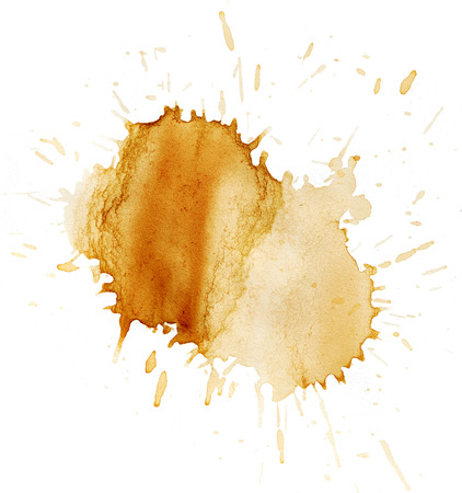 coffee stains: Stains of coffee isolated on white background