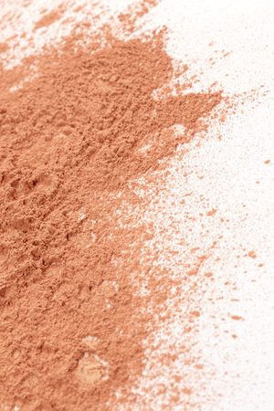 foundation cracks: Face powder isolated on white background Stock Photo
