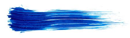Slag van blauwe verf geïsoleerd op wit