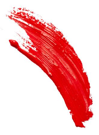 pincel: Pintura roja aislada en blanco