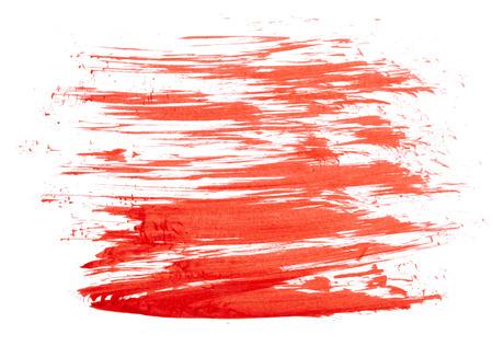 peinture rouge: Peinture rouge isol� sur blanc