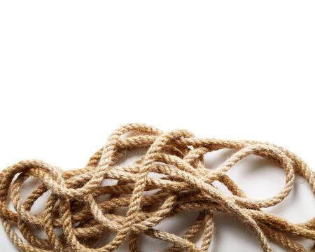cordage: Rope isolated on white background