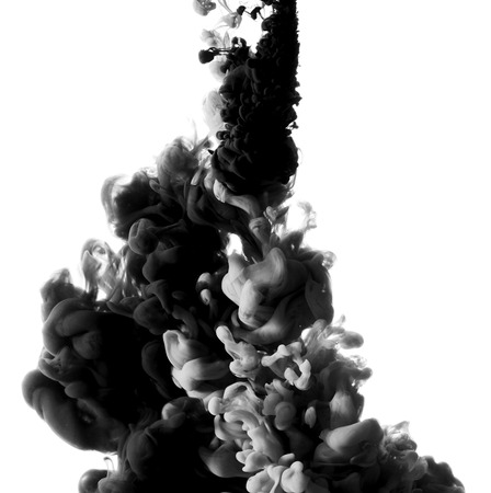 mixed wallpaper: Abstract paint splash isolated on white background